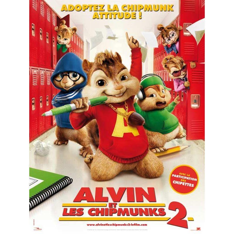 Affiche film Alvin et les Chipmunks 2 (de Betty Thomas)