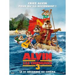 Affiche film Alvin et les Chipmunks 3 (de Mike Mitchell)
