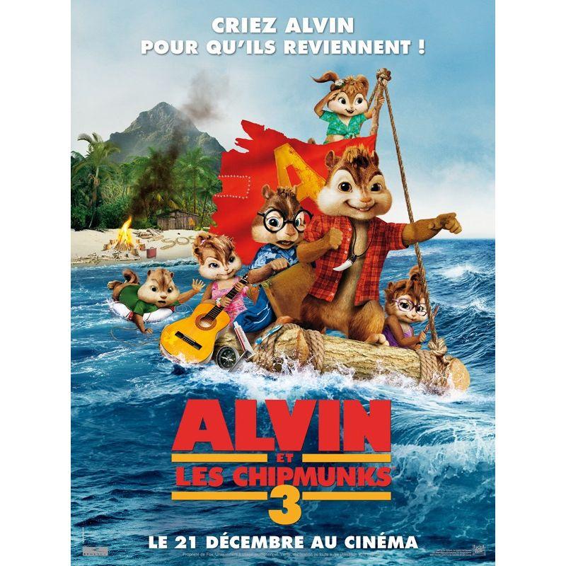 Affiche film Alvin et les Chipmunks 3 (de Mike Mitchell)
