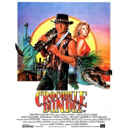 Affiche film Crocodile Dundee (Paul Hogan)