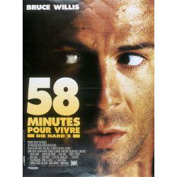 Affiche film Die Hard 2 - 58 minutes pour vivre (Bruce Willis)