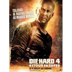Affiche film Die Hard 4 - Retour en Enfer (Bruce Willis)