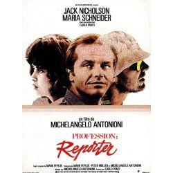 Affiche film Profession Reporter (Jack Nicholson)