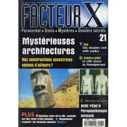 Facteur X - n° 21 - Mystérieuses architectures