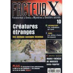 Facteur X - n° 10 - Créatures étranges, des animaux sauvages inconnus