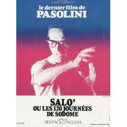 Affiche film Salo, les 120 journées de Sodome (de Pier Paolo Pasolini)