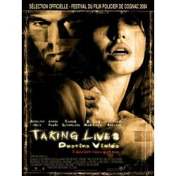 Affiche film Taking Lives (Destins Violés) avec Angelina Jolie & Ethan Hawke