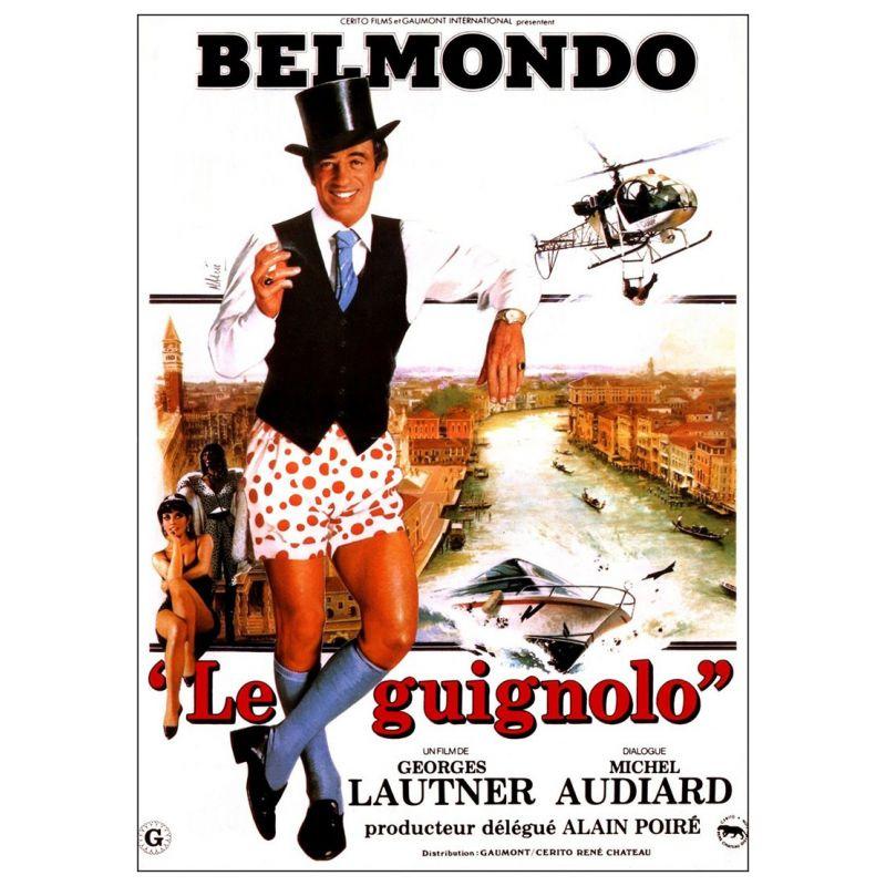 Affiche film Le Guignolo (de Georges Lautner)  avec Jean-Paul Belmondo