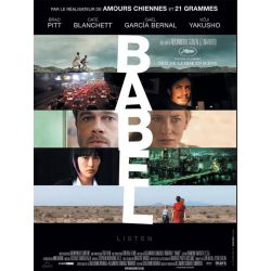 Affiche film Babel (Brad Pitt & Cate Blanchett)