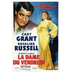 Affiche film  La Dame du vendredi (de Howard Hawks)
