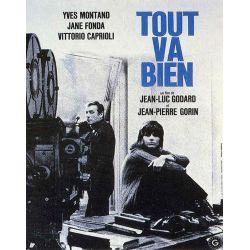 Affiche film  Tout va bien (de Jean-Luc Godard)
