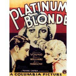 Affiche film La Blonde Platine (de Frank Capra)