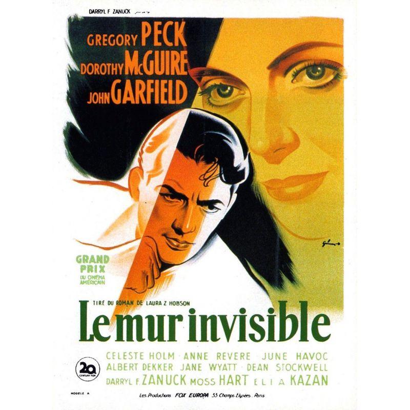 Affiche film Le Mur invisible (de Elia Kazan)