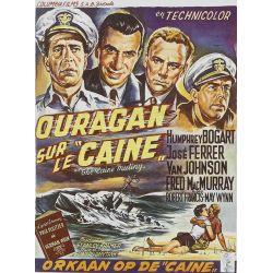 Affiche film Ouragan sur le Caine (Humphrey Bogart)
