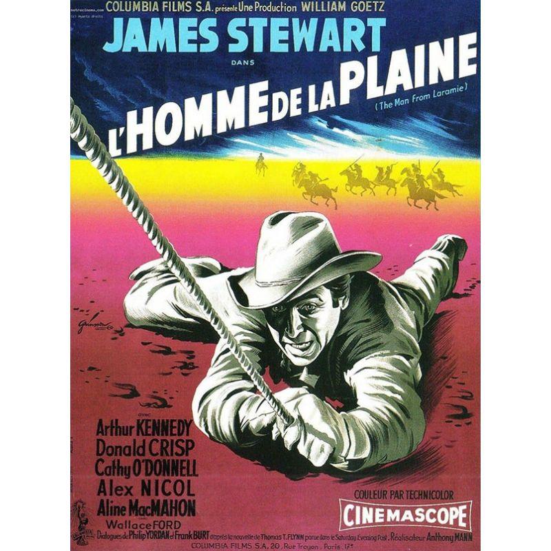 affiche film L'Homme de la Plaine (de Anthony Mann)
