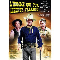Poster film L'Homme qui tua Liberty Valance (James Stewart, John Wayne)