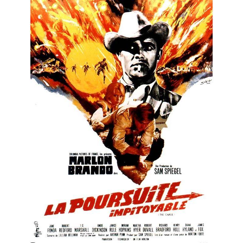 Affiche film La Poursuite Impitoyable (de Arthur Penn)