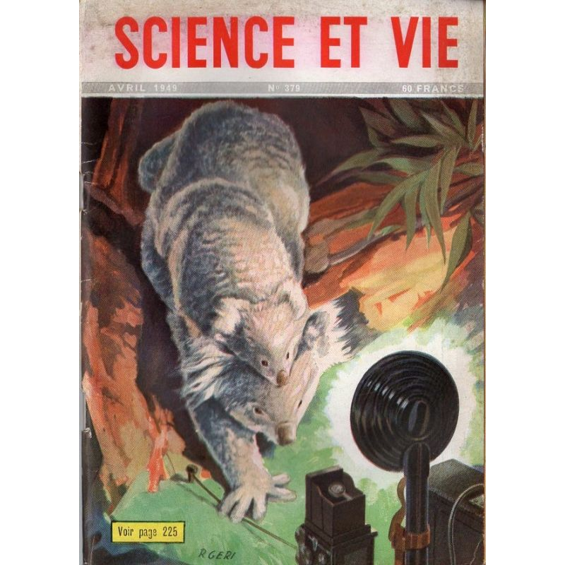 Science & Vie n° 379 - Avril 1949 - Le Koala, idole des antipodes