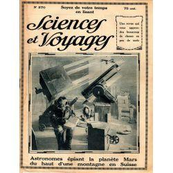 Sciences et Voyages n° 270 - 30 octobre 1924 - Ce que les grands astronomes français pensent de la planète Mars
