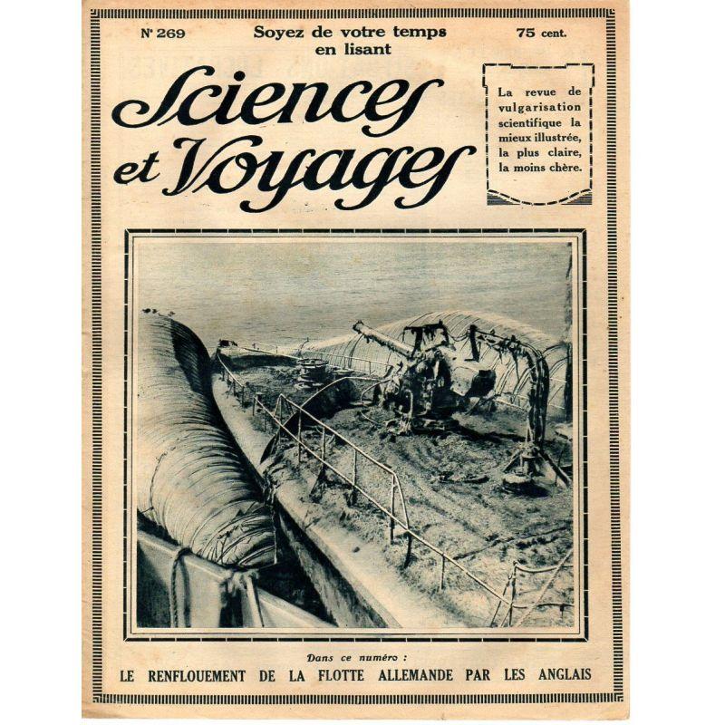 Sciences et Voyages n° 269 - 23 octobre 1924 - La Flotte sauvée des eaux