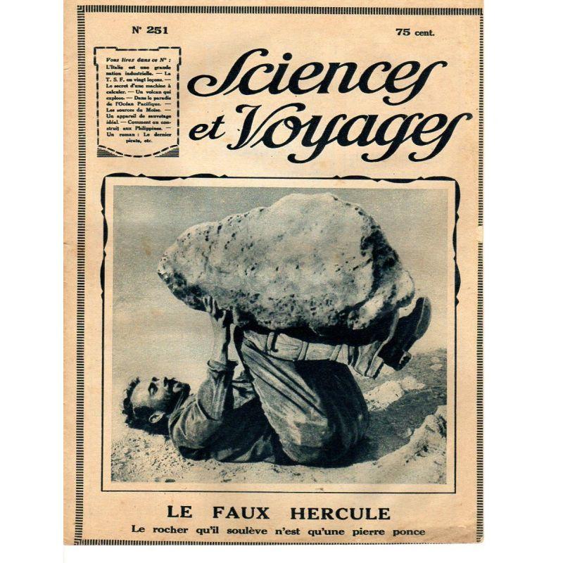 Sciences et Voyages n° 251 - 19 juin 1924 - L'Italie moderne, une grande nation industrielle