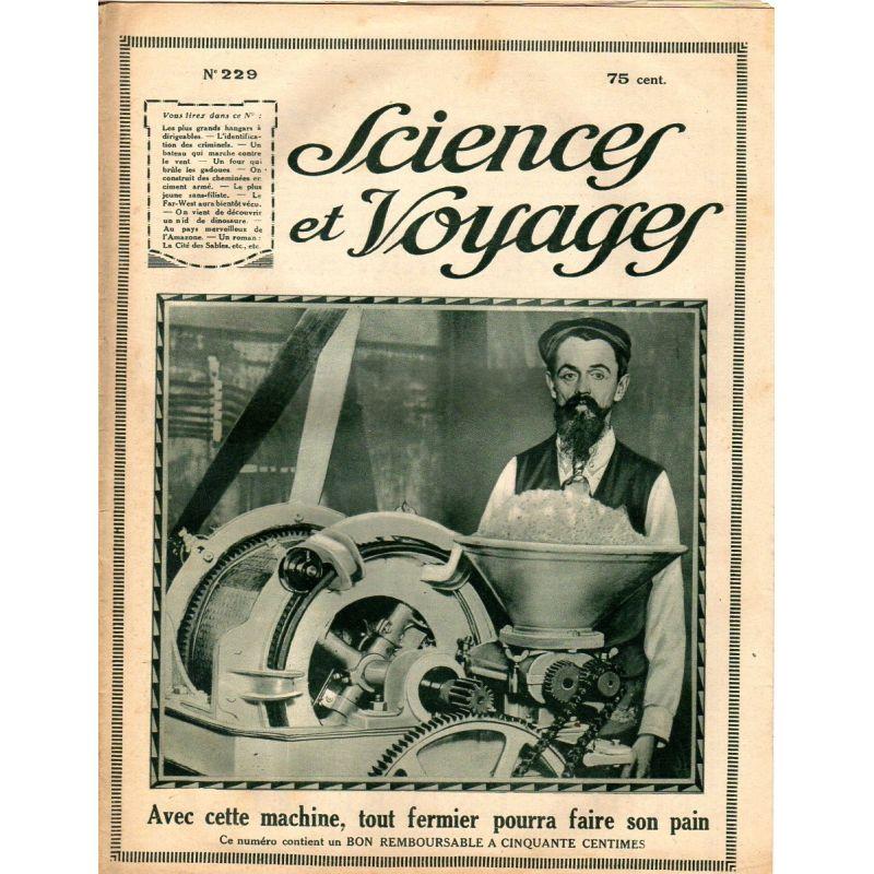 Sciences et Voyages n° 229 - 17 janvier 1924 - Les plus grands hangars à dirigeables du Monde