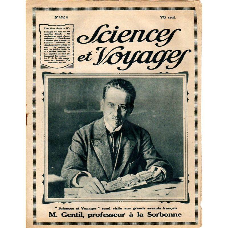 Sciences et Voyages n° 221 - 22 novembre 1923 - L'analyse du vin est une opération délicate