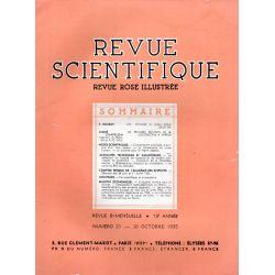 Revue Scientifique n° 20 - 73éme année - 26 octobre 1935
