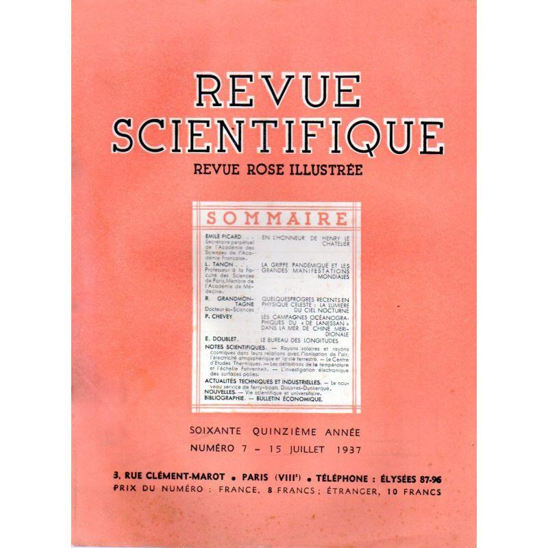 Revue Scientifique n° 7 - 75éme année - 15 juillet 1937