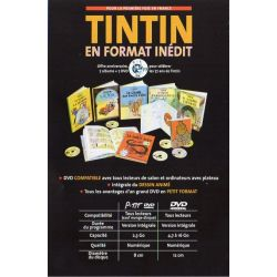 Collection 7 aventures de Tintin en format inédit.  BD + DVD