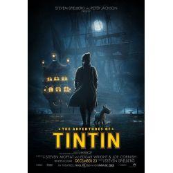 Affiche film Les Aventures de Tintin : Le secret de la Licorne (de Steven Spielberg)