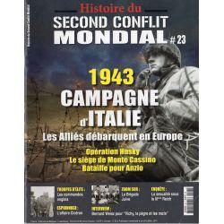 Histoire du Second Conflit Mondial n° 23 - 1943, Campagne d'Italie. Les Alliés débarquent en Europe