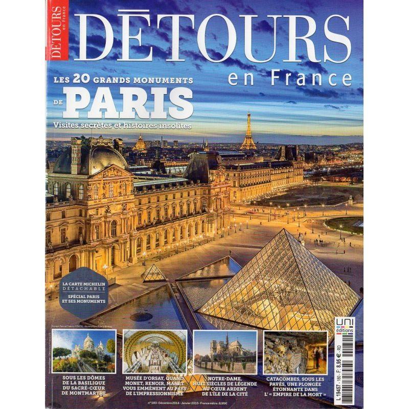Détours en France n° 180 - Les 20 plus grands Monuments de PARIS