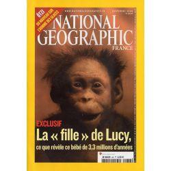 """National Geographic n° 86 - La """"fille"""" de Lucy, ce que révèle ce bébé de 3.3. millions d'années"""