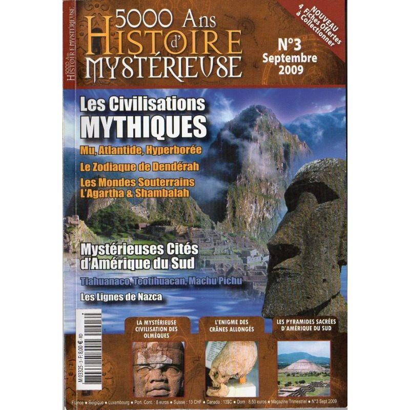 5000 ans d'histoire mystérieuse n° 3 - Les Civilisations Mythiques