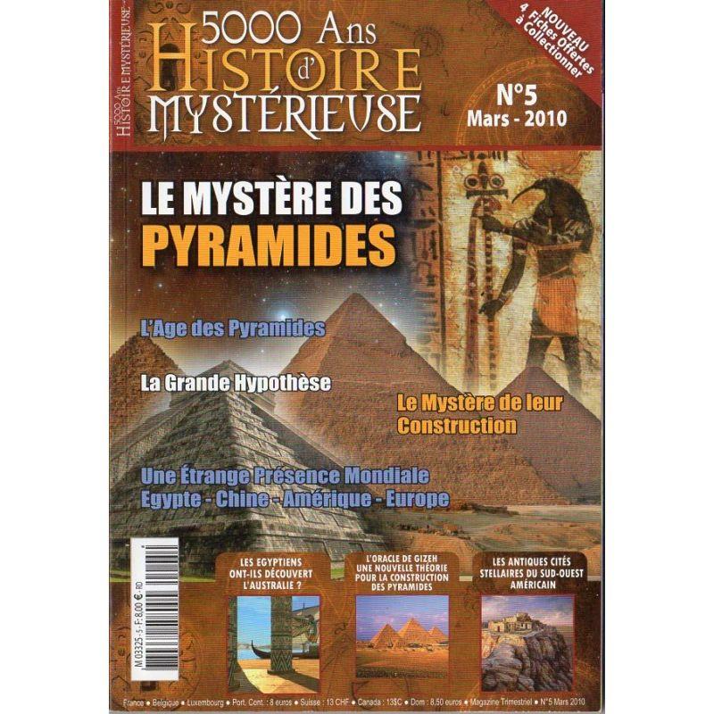 5000 ans d'histoire mystérieuse n° 5 - Le Mystère des Pyramides