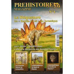 """Préhistoire Magazine n° 4 - Le Stégosaure, """"Un reptile à Toit"""" du Jurassique"""