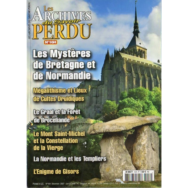 Les Archives du Savoir Perdu n° 16 H - Les Mystères de Bretagne et de Normandie