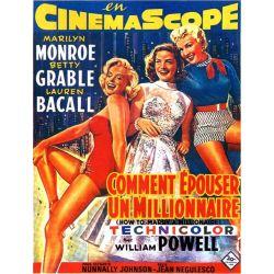 affiche du film Comment épouser un millionaire (avec Marilyn Monroe)