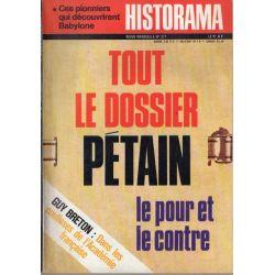 Historama n° 277 - Tout le dossier Pétain : le pour et le contre