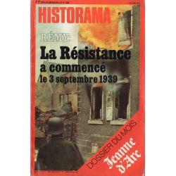 Historama n° 330 - La Résistance a commencé le 3 septembre 1939