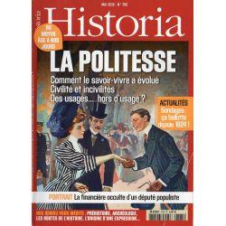 Historia n° 785 - LA POLITESSE, comment le savoir-vivre a évolué