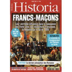 Historia n° 784 - FRANCS-MAÇONS, leur véritable influence dans la naissance des États-Unis