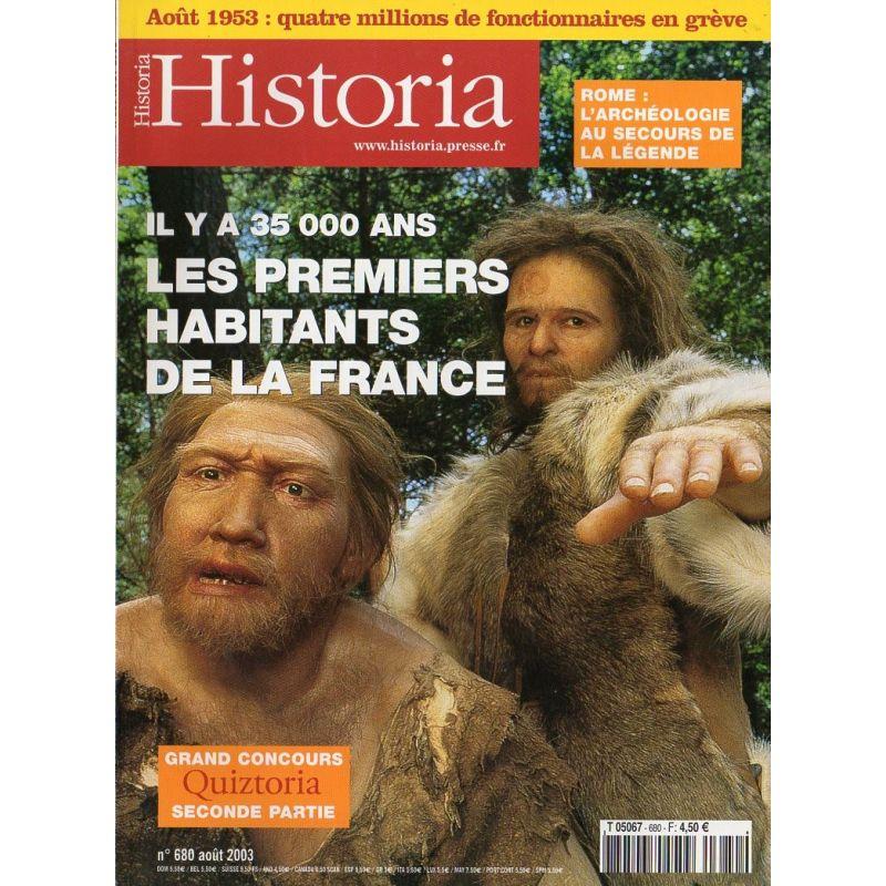 Historia n° 680 - Les Premiers habitants de la France, il y a 35000 ans