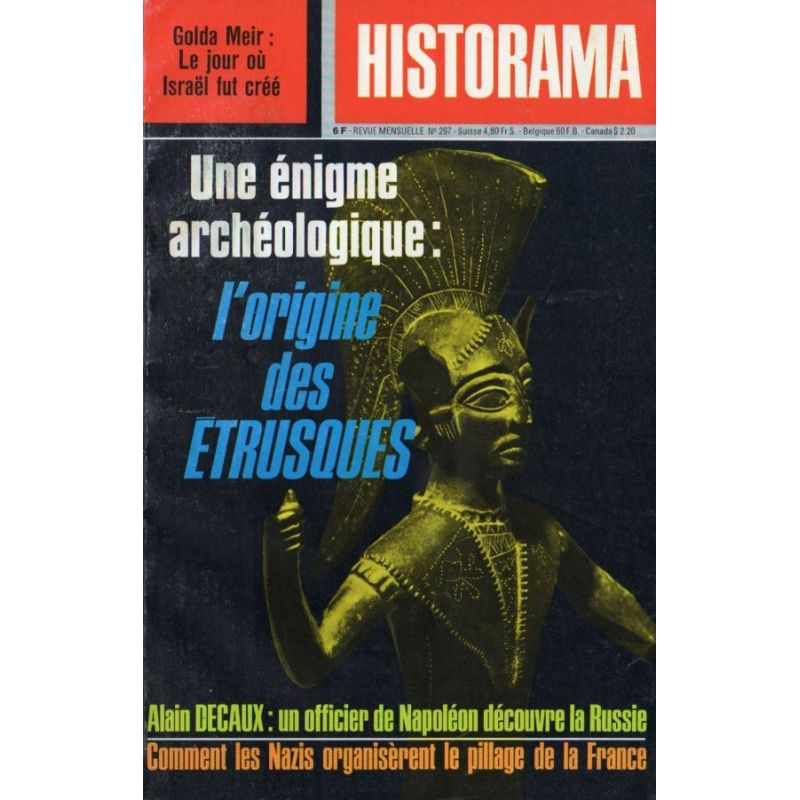 Historama n° 297 - L'Origine des Étrusques, énigme archéologique
