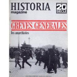 Historia Magazine 20e siècle n° 107 - Grèves Générales, les anarchistes