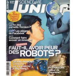 Science & Vie Junior n° 237 - Faut-il avoir peur des Robots ?