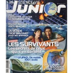 Science & Vie Junior n° 235 - Les Survivants, les secrets de ceux qui s'en sortent