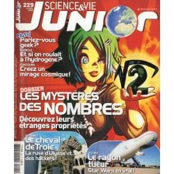 Science & Vie Junior n° 229 - Les Mystères des Nombres, découvrez leurs étranges propriétés