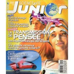 Science & Vie Junior n° 227 - La transmission de pensée, les expériences qui dérangent